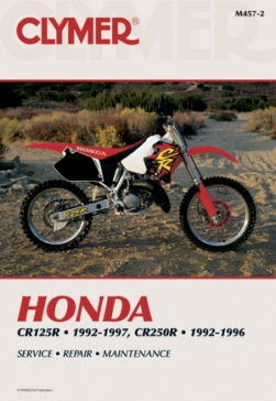 Manuel du Honda CR125R 92-97 and CR250R 92-96 CLYMER 017184