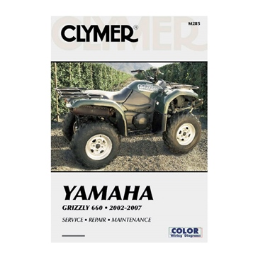 Clymer Manuel du Yamaha Grizzly 660 02-08 017219