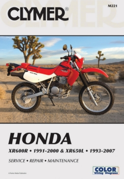 M221 CLYMER Honda XR600R, 91-00 & XR650L 93 Manual