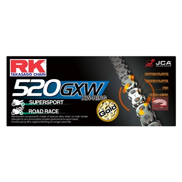 RK EXCEL Drive Chain - 520GXW Street Bike Chain, XW-Ring