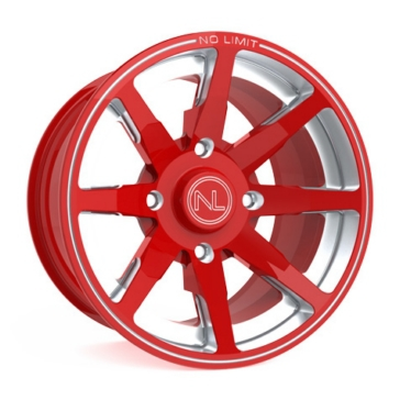 Red NO LIMIT WHEELS Octane Wheel