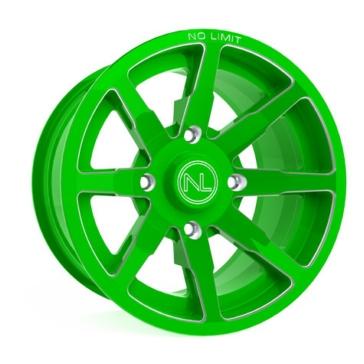 Green NO LIMIT WHEELS Octane Wheel