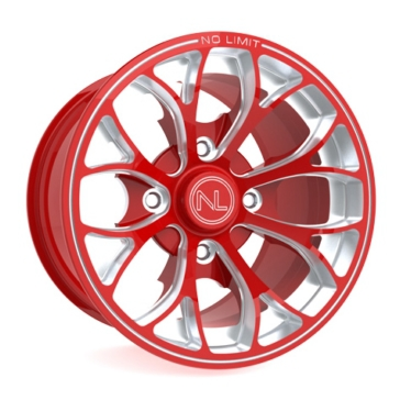 Red NO LIMIT WHEELS Venom Wheel