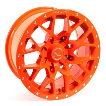 Orange NO LIMIT WHEELS Vector Wheel