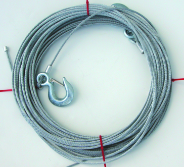 5700 lbs - 50' KIMPEX Winch Cable with Hook