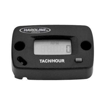 Hardline Products Compteur d'heure / Tachymètre 2 temps, 4 temps, 2 cylindres ou moins - HR-8061