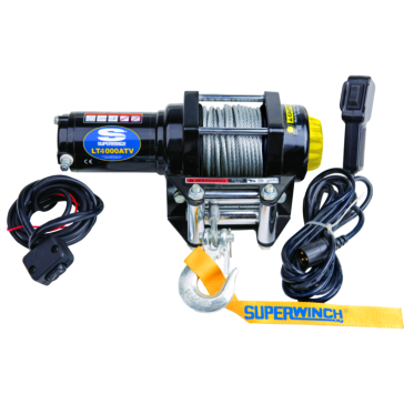 Treuil noir  LT4000ATV (câble métallique) SUPERWINCH