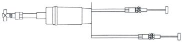 Câble d'accélérateur KIMPEX Double avec TM38