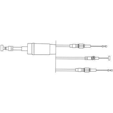 Câble d'accélérateur KIMPEX Double avec injection