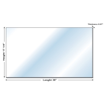Kimpex Deluxe G.E. ®  Lexan ®  Polycarbonate Windshield Blank Universal