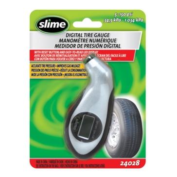 Manomètre numérique — 5 à 150 lb/po2 SLIME Manomètre pour pneu