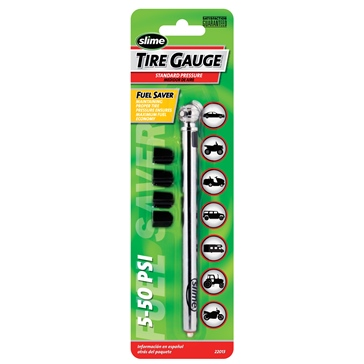 SLIME 5-50 PSI Pencil Gauge Tire Gauge