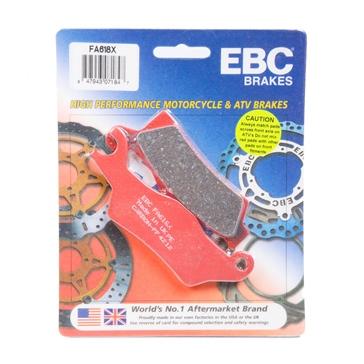 EBC  Plaquette en graphite de carbone Série «X» Graphite de carbone - Avant/Arrière