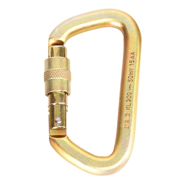 PORTABLE WINCH Steel Oval Locking Carabiner