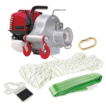 PORTABLE WINCH Gas-Powered Portable Capstan Winch Kit, Power of 1550lbs