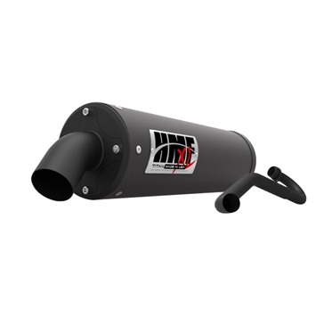 HMF Performance TITAN XL Series Complete Exhaust - Blackout Textron