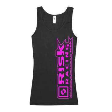 Logo rose - Women RISK RACING Pink Logo Tank Top