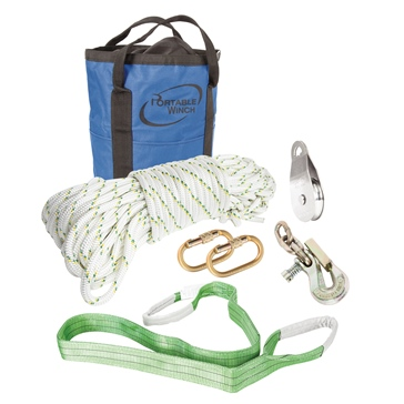 PORTABLE WINCH All-purpose Pulling Accessories Kit 50 m