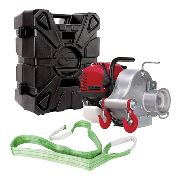 PCW3000 Portable Winch and PCA-0102 Case
