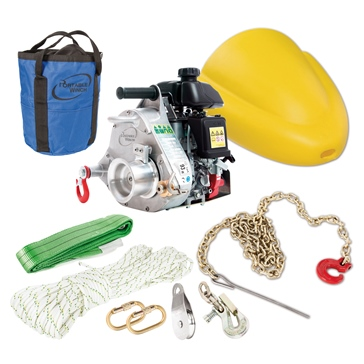 PORTABLE WINCH Forestry Kit With PCW5000 Gas-Powered Winch