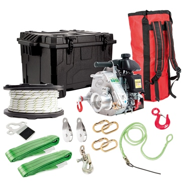 PORTABLE WINCH PCW5000 Gas-Powered Winch with Hunting Kit