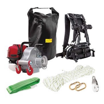 PORTABLE WINCH PCW3000 Winch with Hunting Kit and Backpack