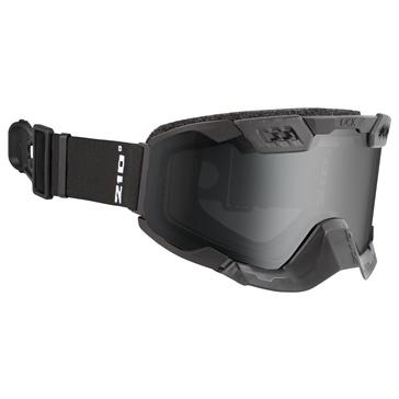 CKX Lunettes 210° avec ventilation contrôlable pour sentier Noir mat