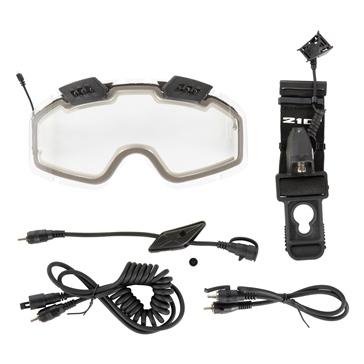 CKX Lentille de lunette 210° électrique avec ventilation contrôlable et accessoires