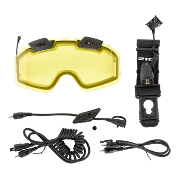 CKX Electric 210° Goggles Lens with Adjustable Ventilation & Accessories
