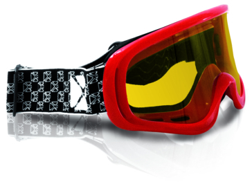 CKX Steel Goggles, Winter Red