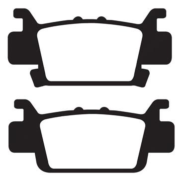 "EBC  Carbon Graphite ""X"" Brake Pad Organic - Rear"