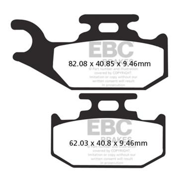 EBC  SXR Brake Pad Sintered metal - Rear right