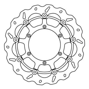 GALFER Disque de frein Floating Wave® Surdimensionné KTM, Husqvarna, Husaberg - Avant