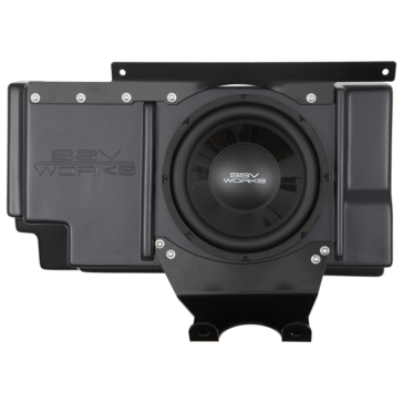 SSV WORKS Subwoofer with Box & Amplifier WP Polaris - Behind seat