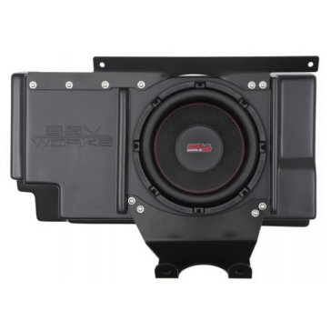 SSV WORKS Kicker Powersport Subwoofer with Box Polaris - Behind seat