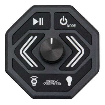 SSV WORKS Bluetooth Media Controller with AUX Input & USB Charger