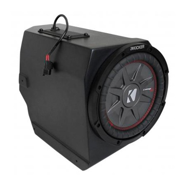 SSV WORKS Kicker Powersport Subwoofer with Box Fits Polaris - Under dash