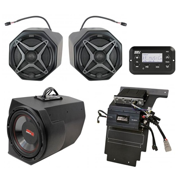 SSV WORKS Premium Marine 3 Speaker Kit Fits Polaris