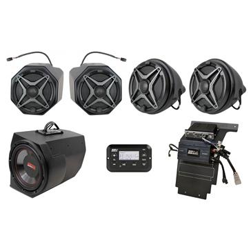 SSV WORKS Premium Marine 5 Speaker Kit Fits Polaris