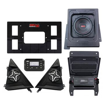 SSV WORKS Premium Marine 3 Speaker Kit Polaris