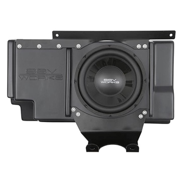 SSV WORKS WP Subwoofer with Box & Amplifier Fits Polaris - Behind seat