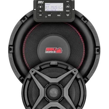 SSV WORKS Premium Marine 3 Speaker Kit Fits Polaris