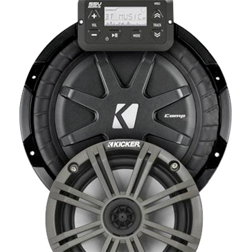 SSV WORKS Kicker Marine 2 Speaker Kit Fits Polaris