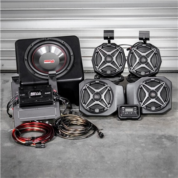 SSV WORKS Premium Marine 5 Speaker Kit Fits Polaris