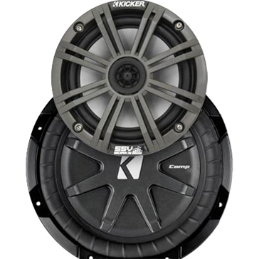 SSV WORKS Kicker Marine 3 Speaker Kit Fits Polaris