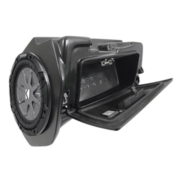 SSV WORKS Kicker Powersport Subwoofer with Box Polaris - Glove box