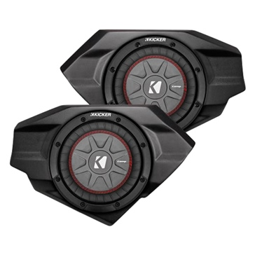 SSV WORKS Kicker Powersport Subwoofer with Box Fits Arctic cat - Side