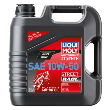 Liqui Moly Huile 4T Synthétique Street Race 10W50