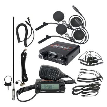 NavAltas Système d'interphone NNT10 avec radio NCR2 et 2 casques d'écoute NH100