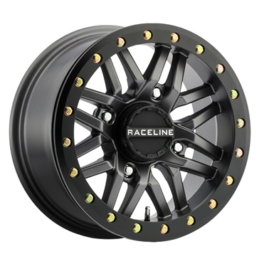 Raceline Wheels Ryno Beadlock Wheel 15x10 - 4/156 - 5+5